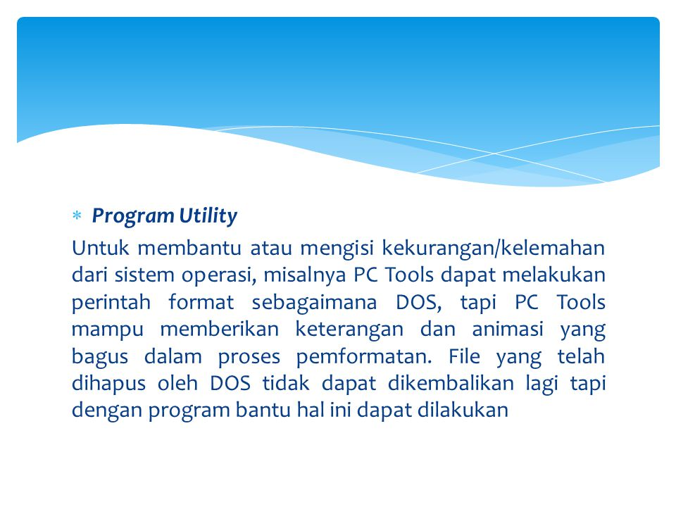 Program Utility