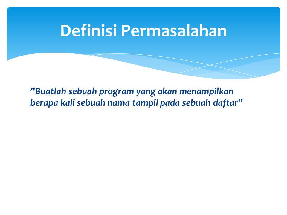 Definisi Permasalahan