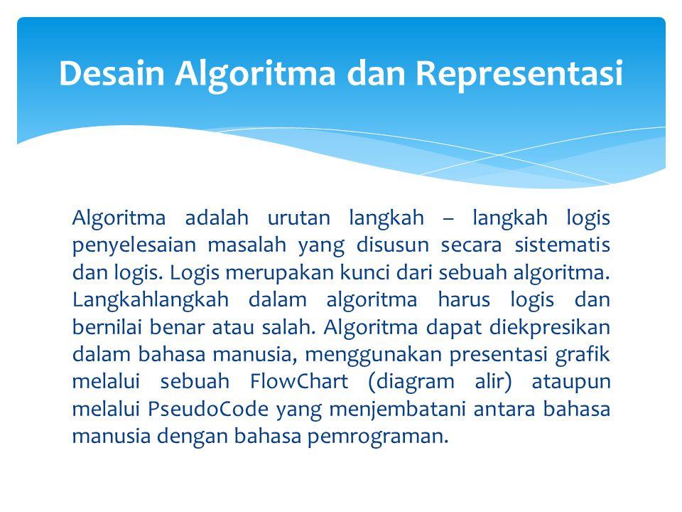 Desain Algoritma dan Representasi