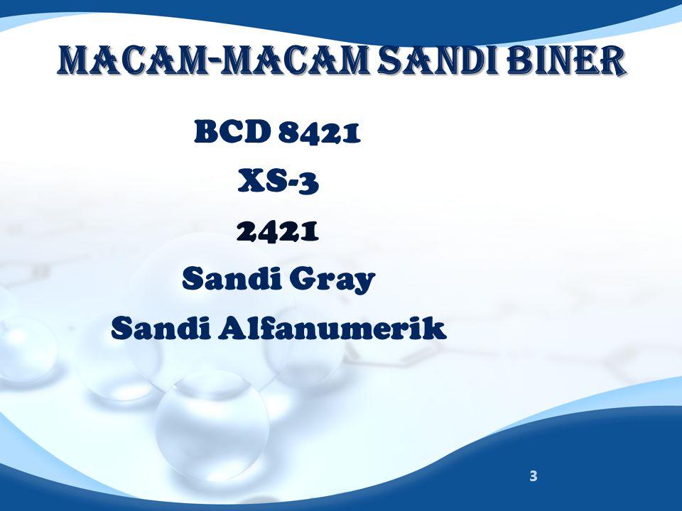 MACAM-MACAM SANDI BINER