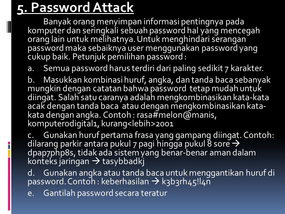5. Password Attack