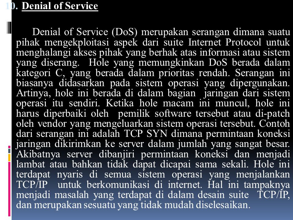 Denial of Service