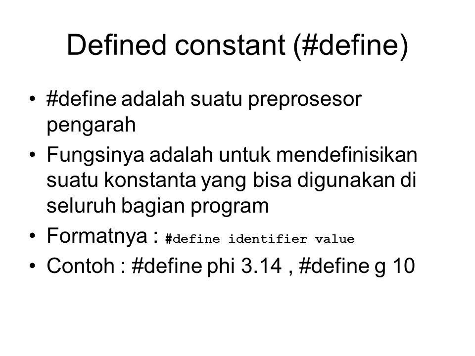 Defined constant (#define)