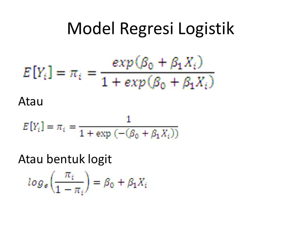 Model Regresi Logistik