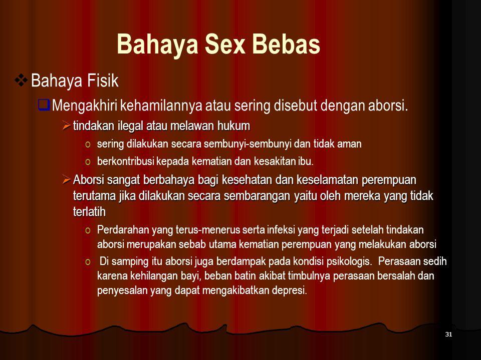 Bahaya Sex Bebas Bahaya Fisik