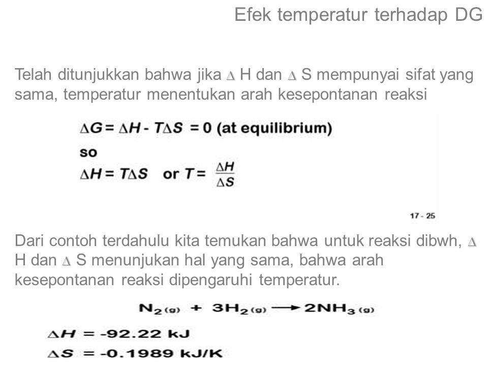 Efek temperatur terhadap DG