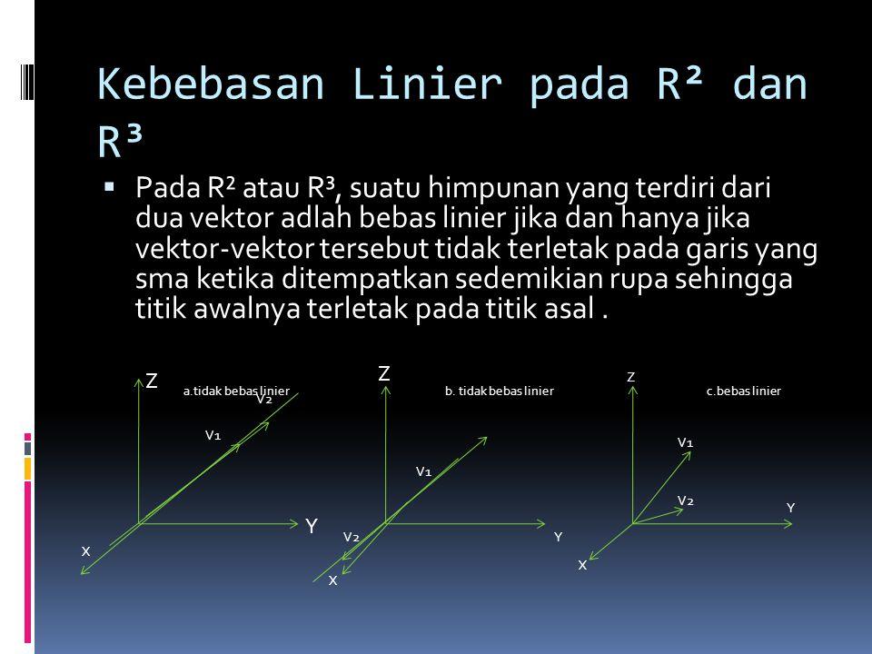Kebebasan Linier pada R² dan R³