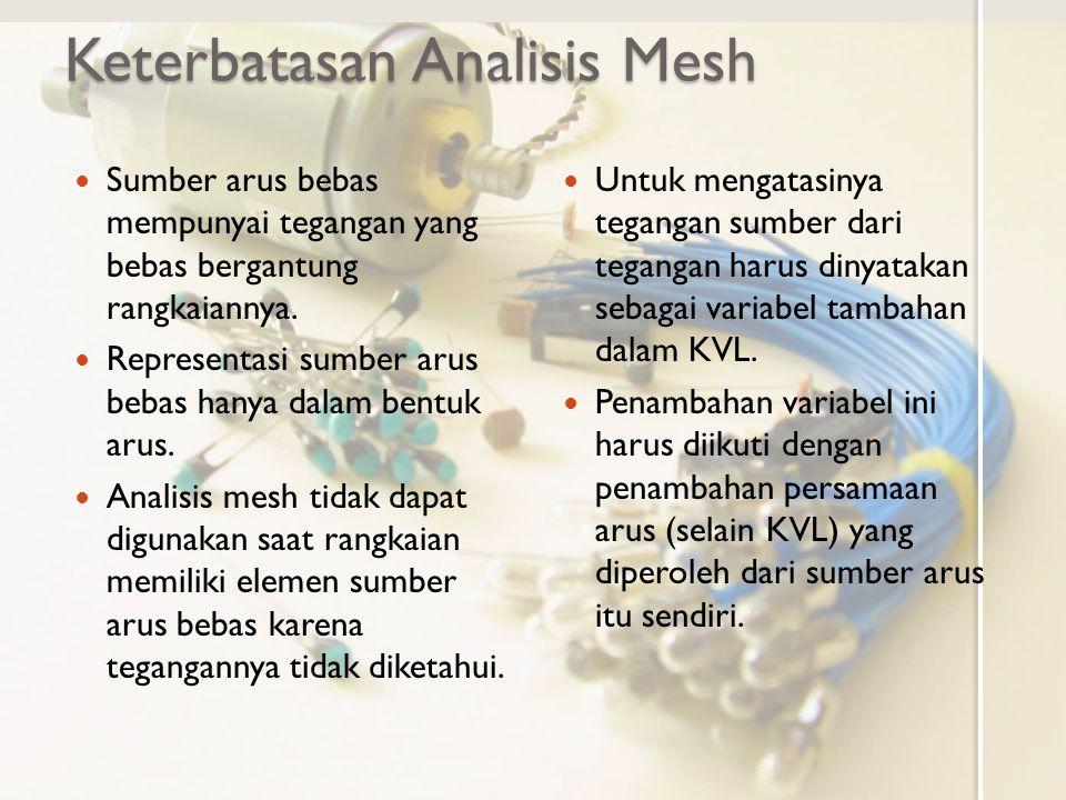 Keterbatasan Analisis Mesh