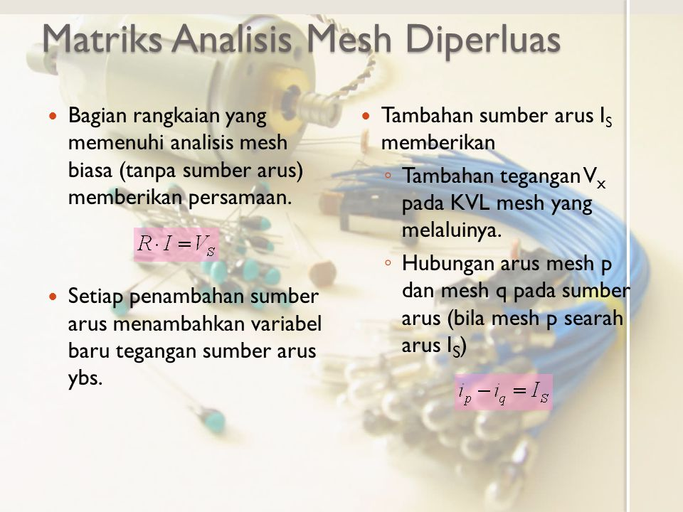 Matriks Analisis Mesh Diperluas