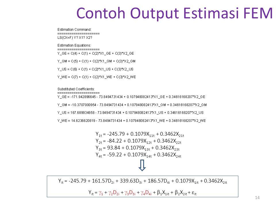 Contoh Output Estimasi FEM