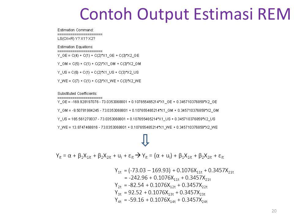 Contoh Output Estimasi REM