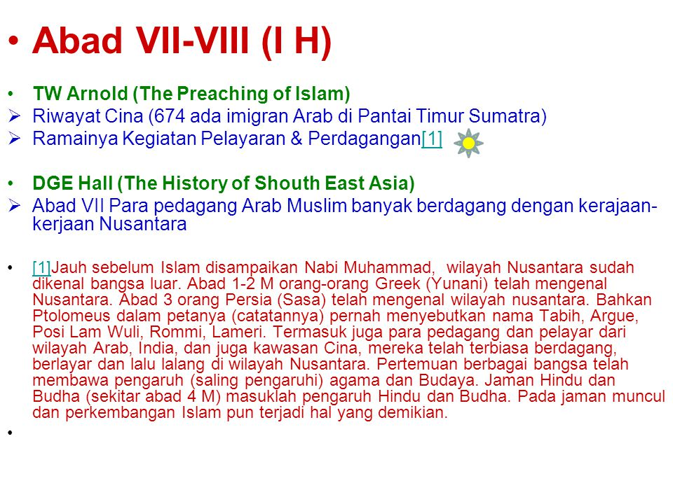 Abad VII-VIII (I H) TW Arnold (The Preaching of Islam)