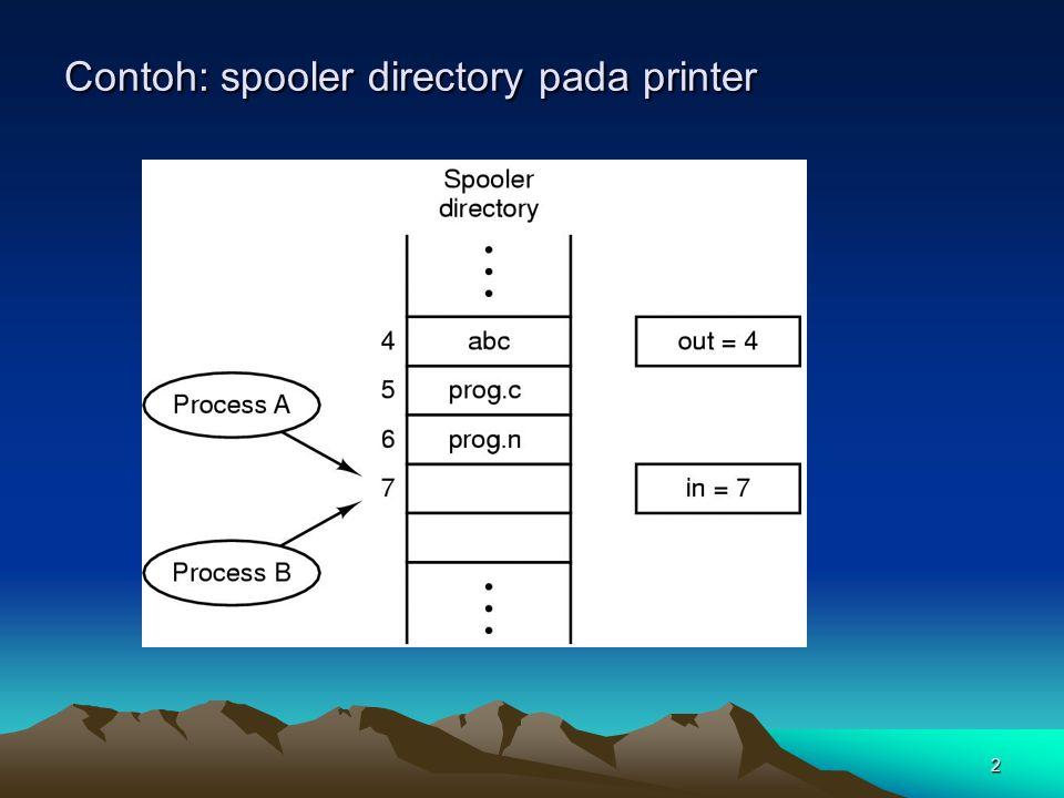 Contoh: spooler directory pada printer