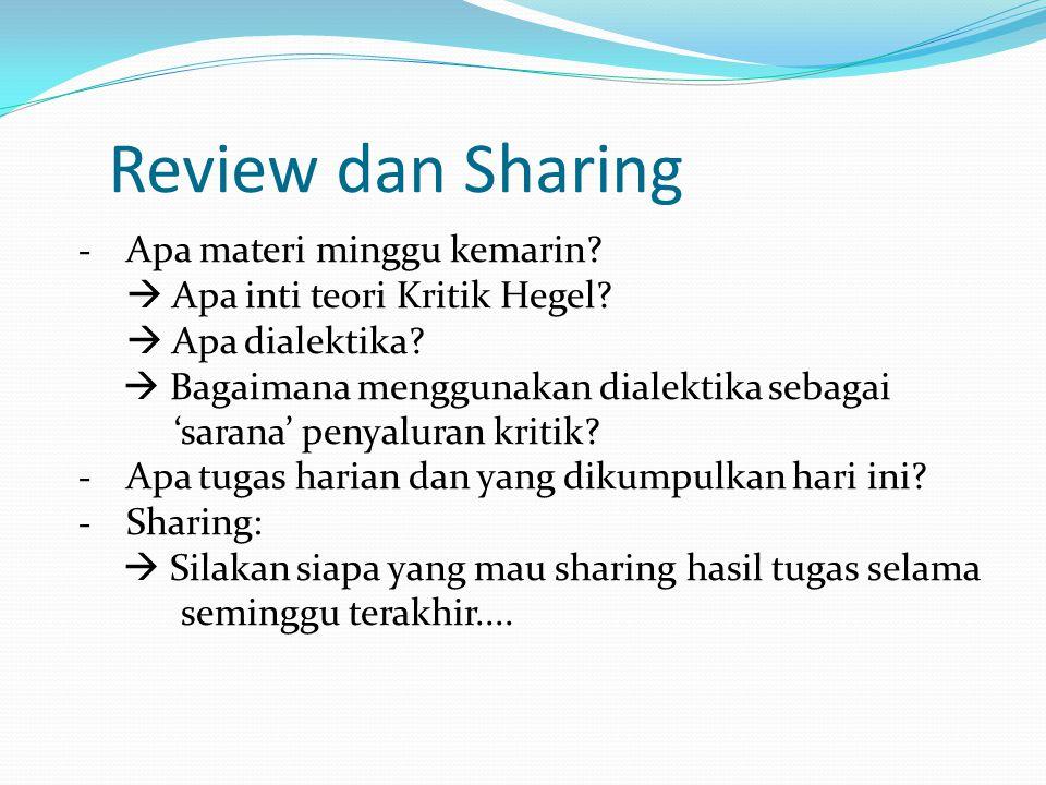 Review dan Sharing Apa materi minggu kemarin