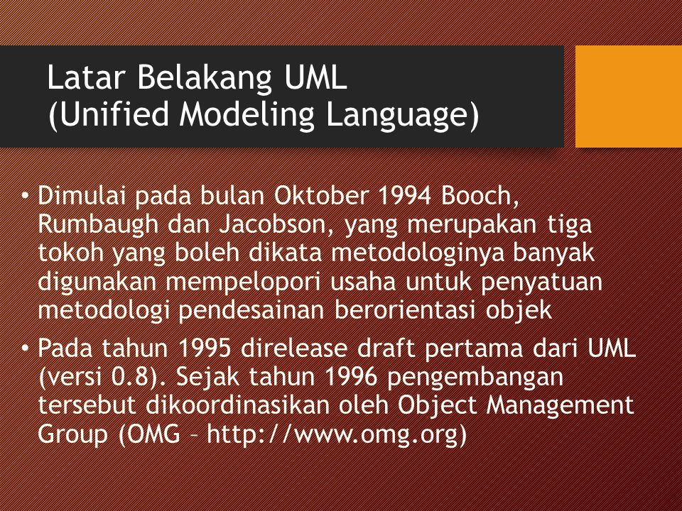 Latar Belakang UML (Unified Modeling Language)