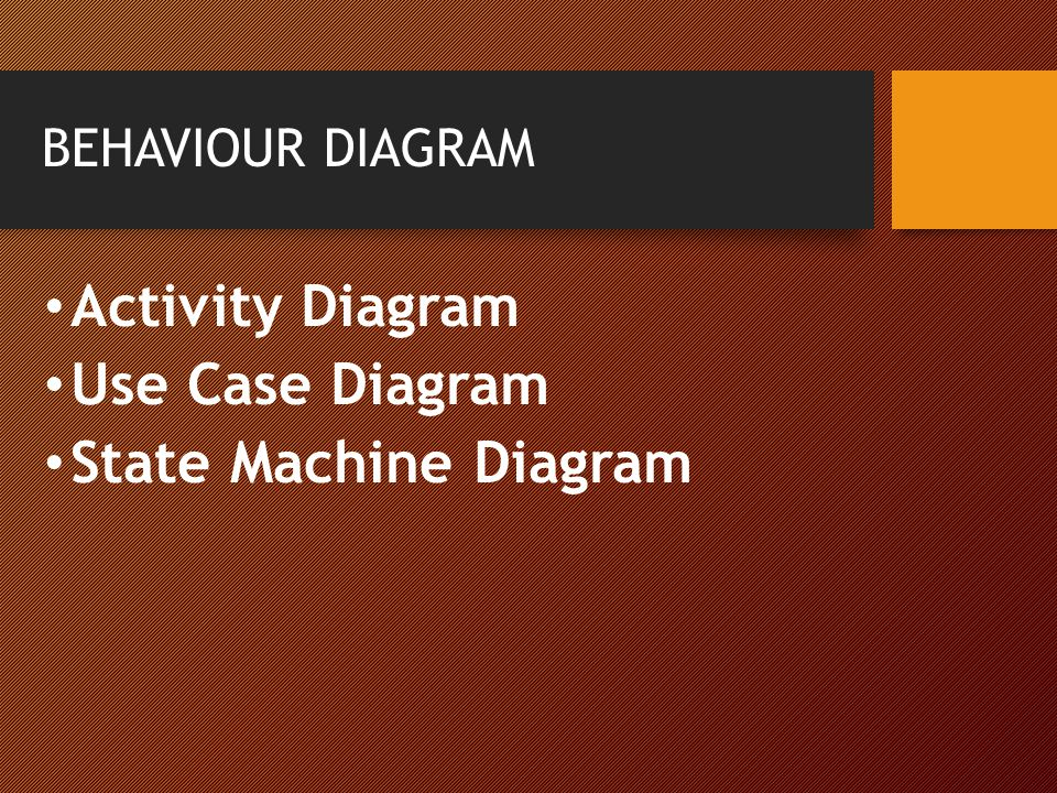 Activity Diagram Use Case Diagram State Machine Diagram