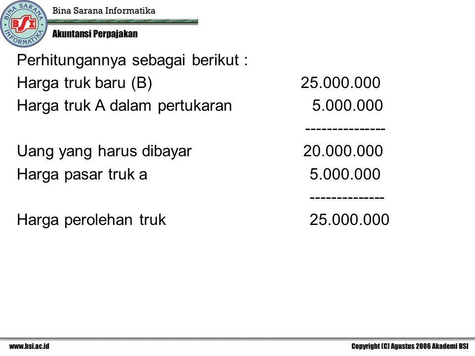 Perhitungannya sebagai berikut :