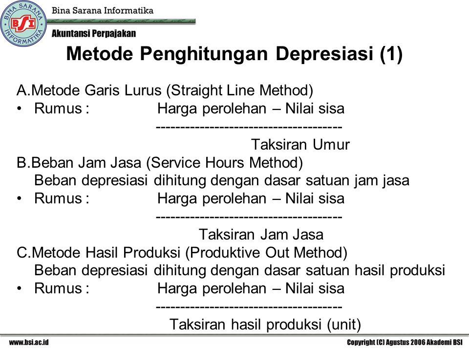 Metode Penghitungan Depresiasi (1)