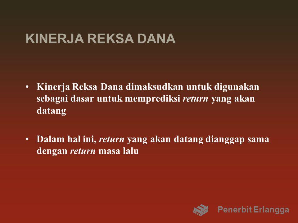 KINERJA REKSA DANA Kinerja Reksa Dana dimaksudkan untuk digunakan sebagai dasar untuk memprediksi return yang akan datang.