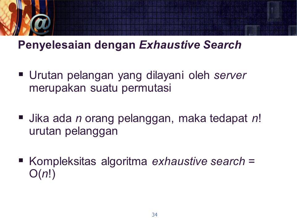 Penyelesaian dengan Exhaustive Search