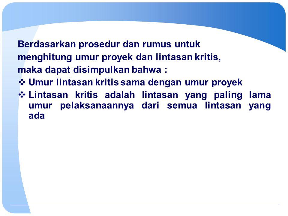 Berdasarkan prosedur dan rumus untuk