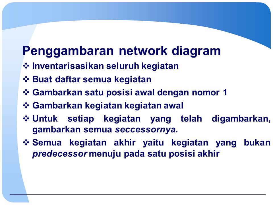 Penggambaran network diagram