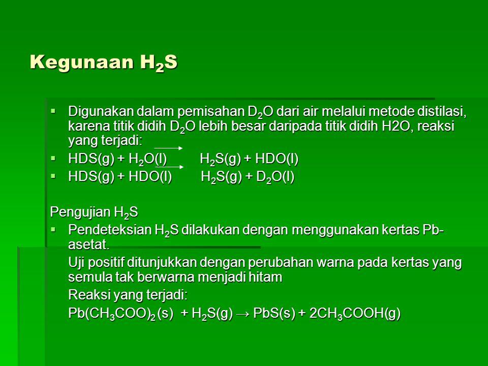 Kegunaan H2S