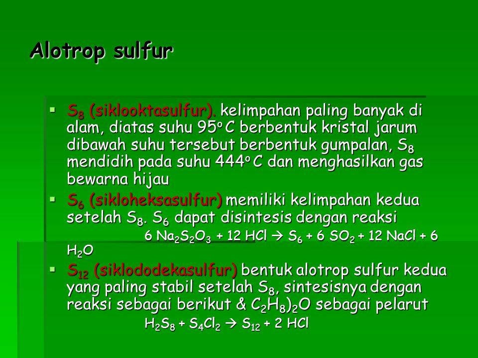 Alotrop sulfur