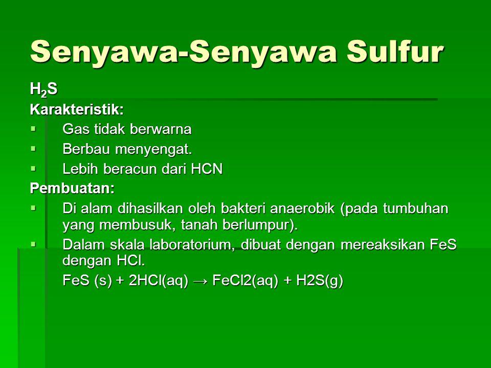 Senyawa-Senyawa Sulfur