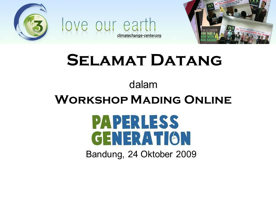 dalam Workshop Mading Online