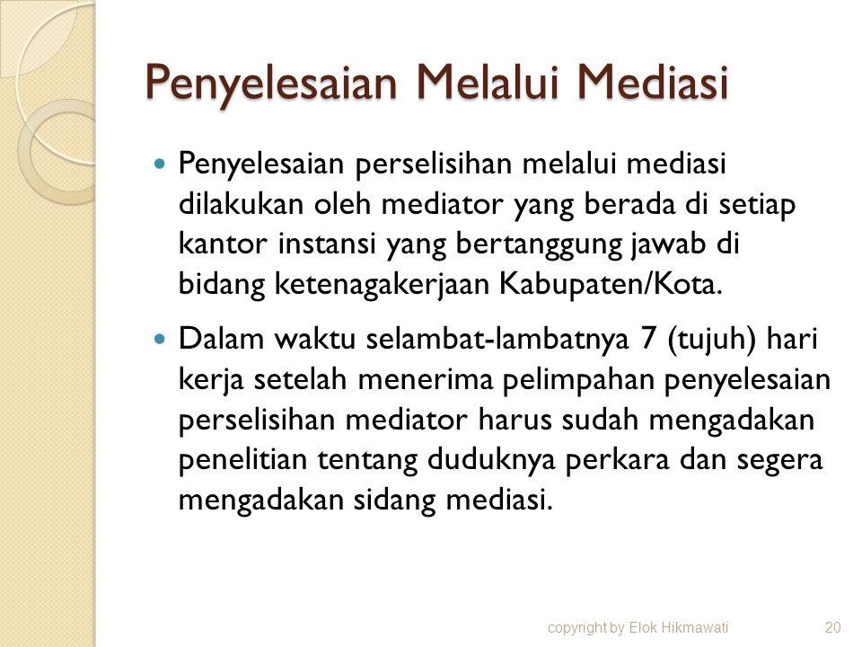 Penyelesaian Melalui Mediasi