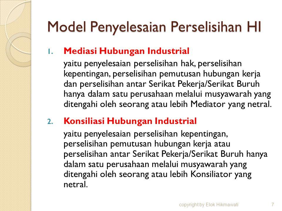 Model Penyelesaian Perselisihan HI