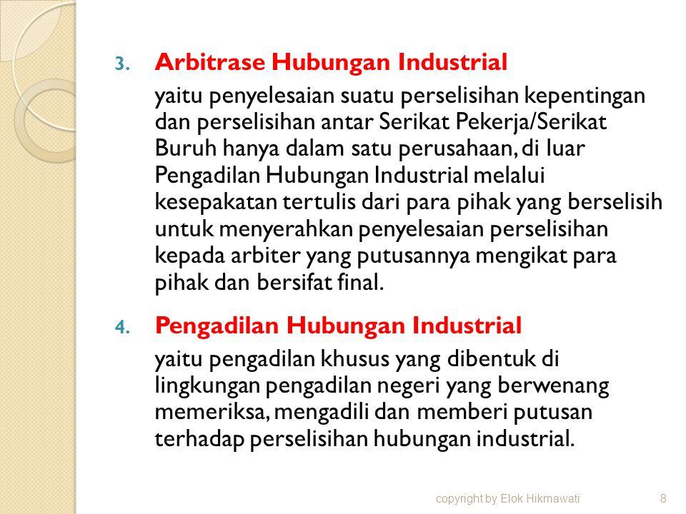 Arbitrase Hubungan Industrial