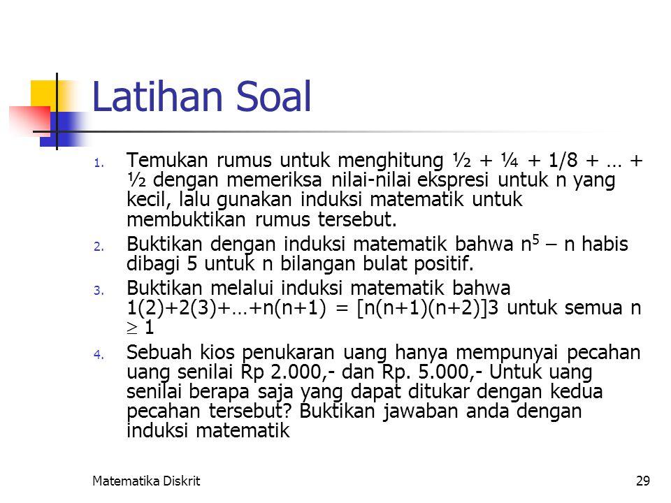 Tinjau runtunan nilai yang didefinisikan sebaga berikut : S1,1 = 5