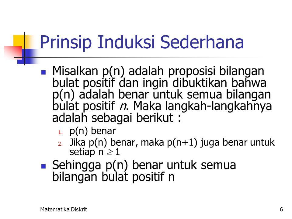 Prinsip Induksi Sederhana