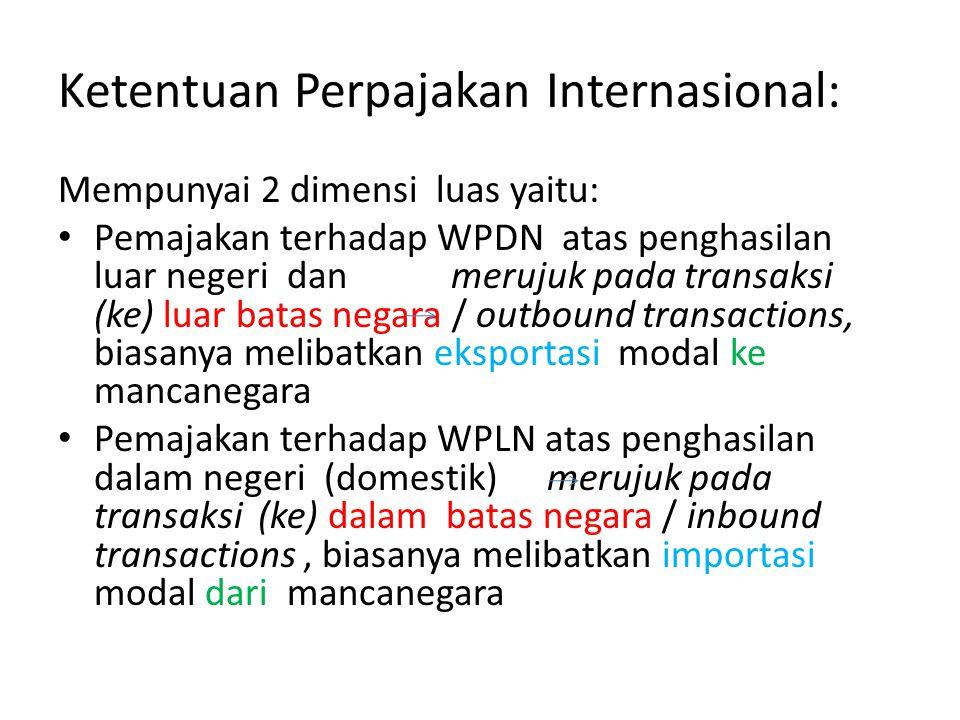 Ketentuan Perpajakan Internasional: