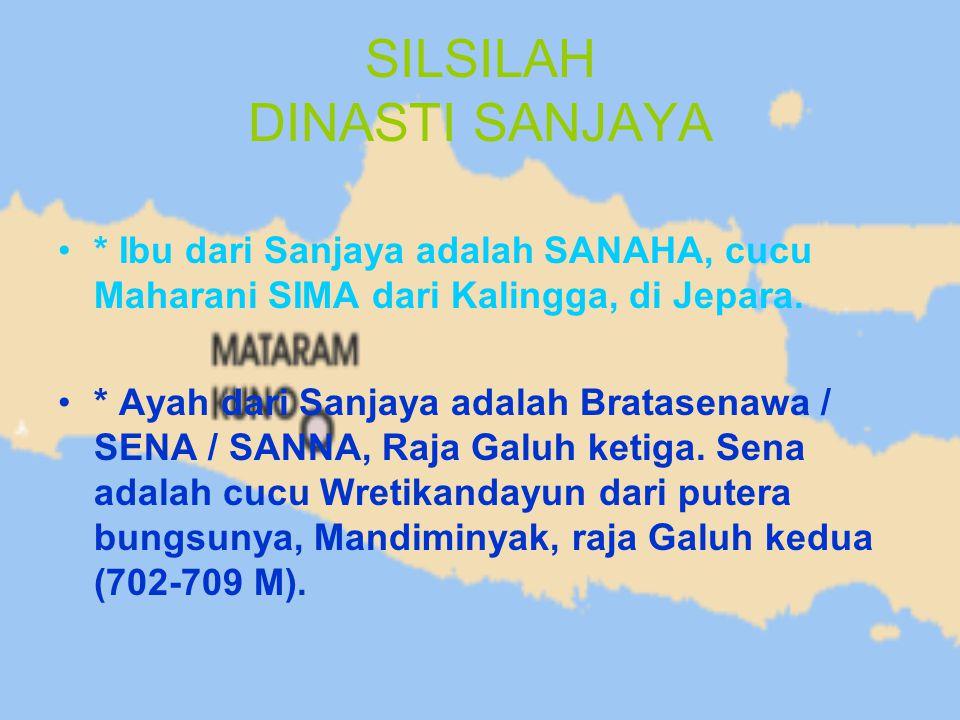 SILSILAH DINASTI SANJAYA