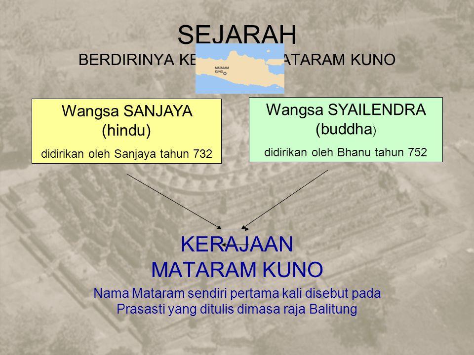 SEJARAH BERDIRINYA KERAJAAN MATARAM KUNO