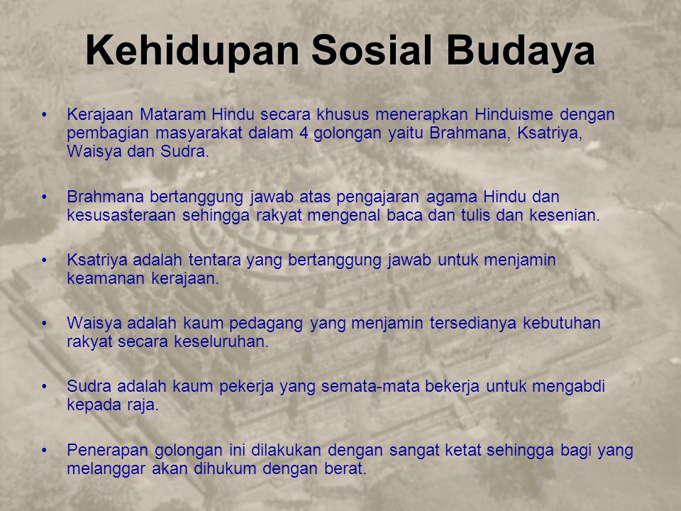 Kehidupan Sosial Budaya