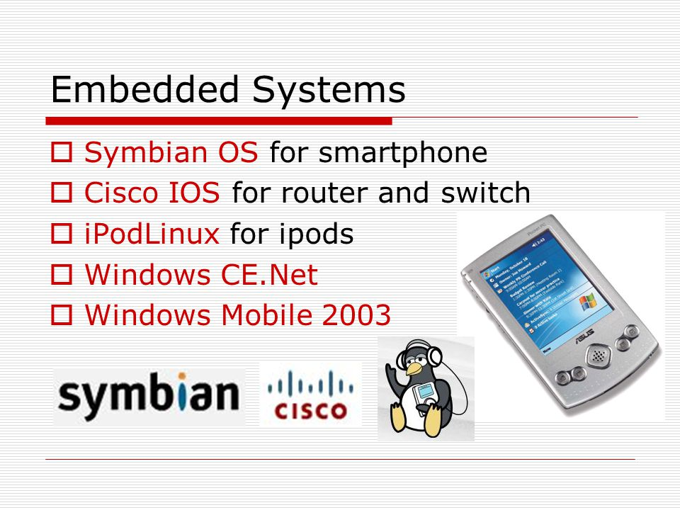 Embedded Systems Symbian OS for smartphone