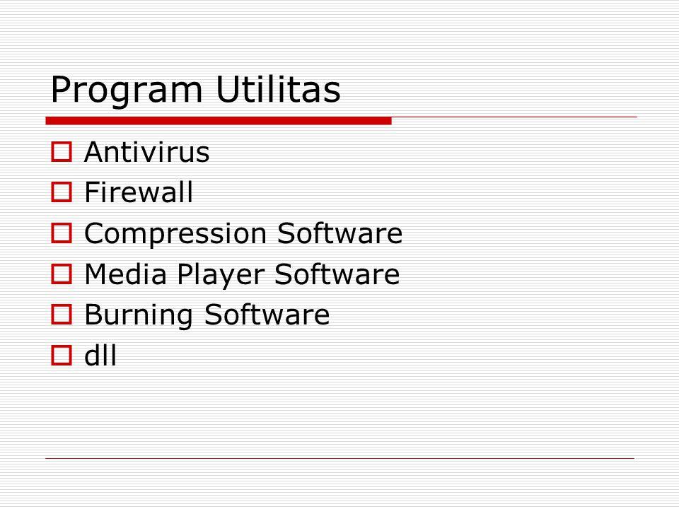 Program Utilitas Antivirus Firewall Compression Software