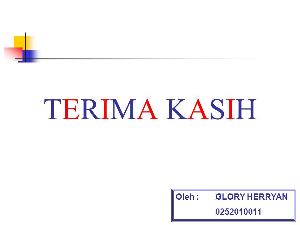 TERIMA KASIH Oleh : GLORY HERRYAN 0252010011