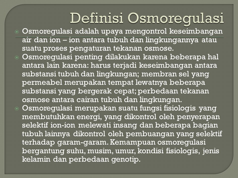 Definisi Osmoregulasi