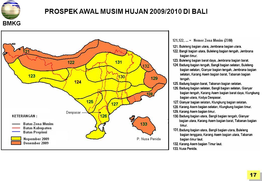 PROSPEK AWAL MUSIM HUJAN 2009/2010 DI BALI