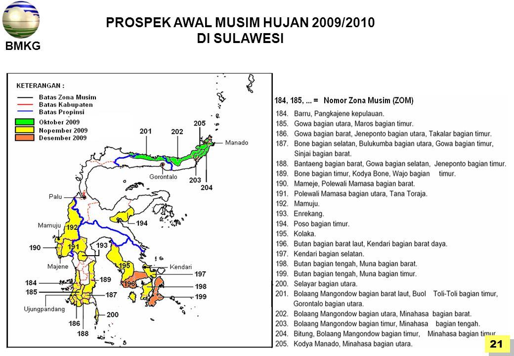 PROSPEK AWAL MUSIM HUJAN 2009/2010
