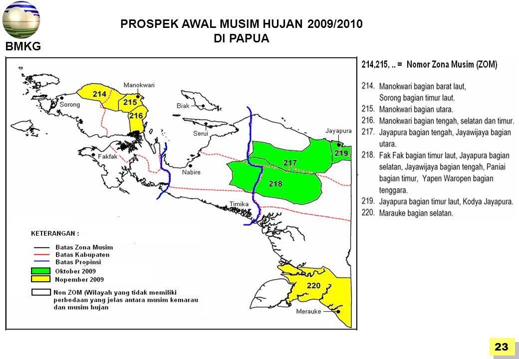 PROSPEK AWAL MUSIM HUJAN 2009/2010 DI PAPUA