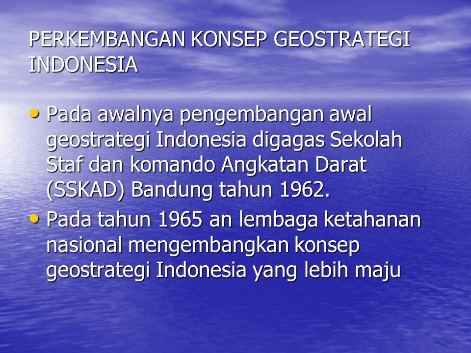 PERKEMBANGAN KONSEP GEOSTRATEGI INDONESIA