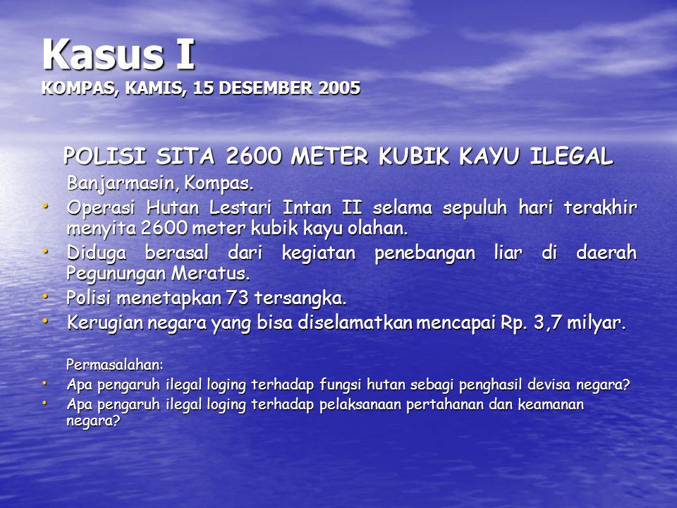Kasus I KOMPAS, KAMIS, 15 DESEMBER 2005