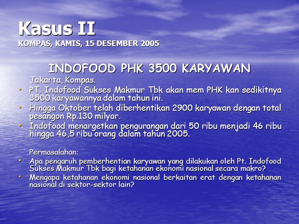 Kasus II KOMPAS, KAMIS, 15 DESEMBER 2005