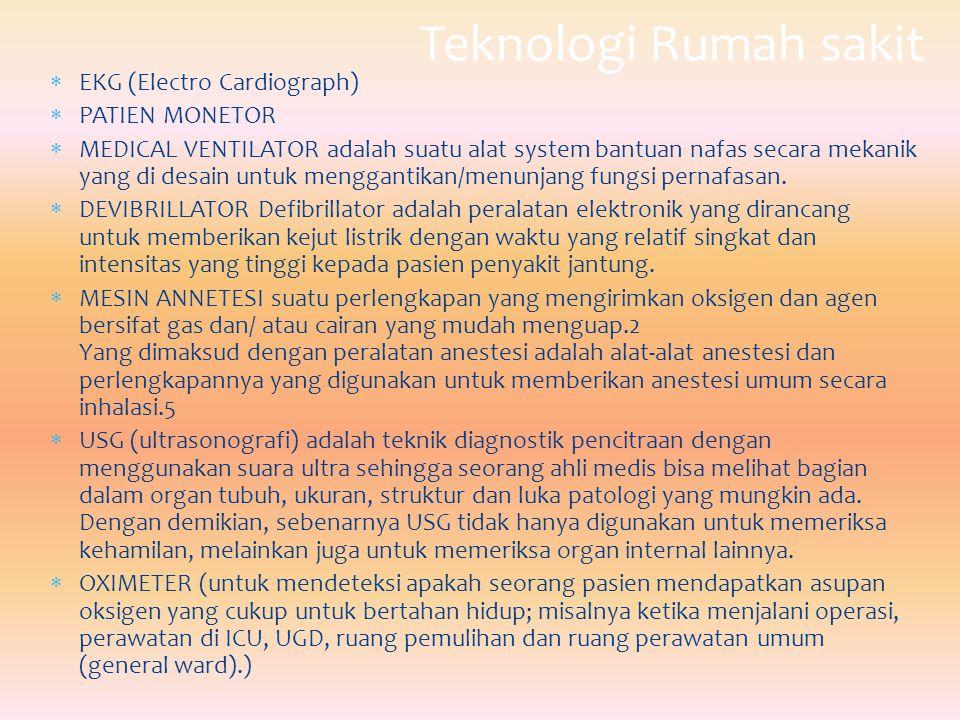 Teknologi Rumah sakit EKG (Electro Cardiograph) PATIEN MONETOR